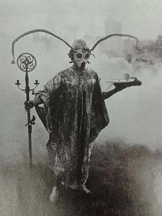 Urban Druid performing spirit sorcery in park, around year 1900.    Magic was once a lot cooler. Also a lot more like Apocalypse World.