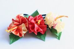 A Set of hibiscus Decorated Hair Ponytail Holders(O), Women Hair Accessory,tropical accessoties,trop Hawaiian Party Favors, Ponytail Hairstyles, Hair Ponytail, Ukulele Accessories, Ukulele Case, Ribbon Lei, Fabric Garland, Ponytail Holders, Hair Accessories For Women