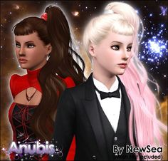 Anubis Under The Sun ♪: NewSea's BornThisWay Female Hairstyle ~ Pooklet'd for Child-to-Elder