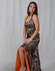 Where were these?! camo prom dresses with orange