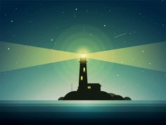 The Lighthouse In Night Animated by Yup Nguyen