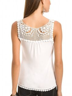 lace & fabric top