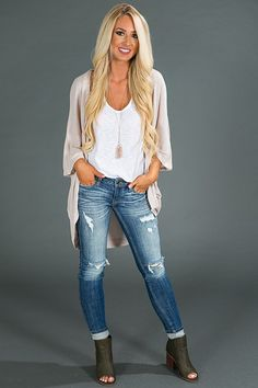 Blissful Breeze Cardigan in Iced Latte $34.00