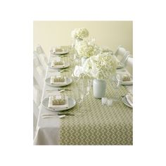 Wallpaper Table Runners..Advice? « Weddingbee Boards found on Polyvore