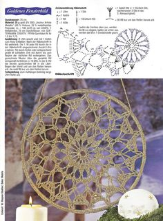 This Pin was discovered by Mer Crochet Stars, Crochet Circles, Crochet Motifs, Crochet Snowflakes, Crochet Stitches Patterns, Doily Patterns, Crochet Round, Crochet Home, Love Crochet
