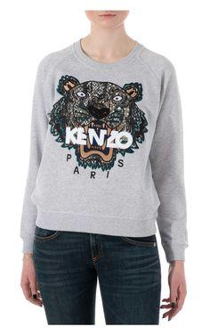 Tröja Snake Tiger Sweatshirt PALE GREY - KENZO - Designers - Raglady