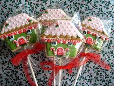 Gingerbread House Cookie Pops ...Etsy