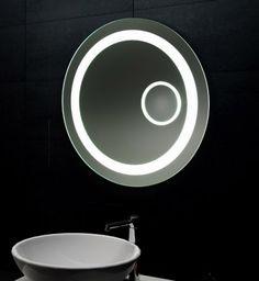 Ronde spiegel met LED verlichting | Badkamer | Pinterest