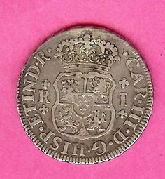 1761 Spanish Colonial Silver 1 Reale Very Nice Old Spanish Coins | eBay
