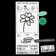 Public plant pack [Contains: 1 watering can, 1 poster, 10 stickers and some water]. A project about encourage citizens to make plants grow… Graphic Design Posters, Graphic Design Inspiration, Typography Design, Web Design, Layout Design, Print Design, Index Design, Editorial Layout, Editorial Design