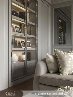 klasszikus stílus-könyvszekrény nappali2