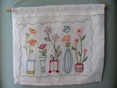Lovely embroidered flowers
