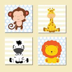 Artes decoração bebê Safari Boy Room, Kids Room, Jungle Theme Parties, Woodworking Projects For Kids, Paint And Sip, Baby Shower Printables, Baby Birthday, Nursery Prints, Baby Boy Shower