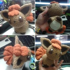 Vulpix amigurumi. So happy with how she turned out. #vulpix #pokemon #crochet #art #handmade