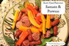 Easy Slow-Carb Sausage & Peppers Dinner