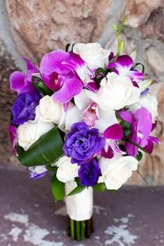 Fresh and beautiful in pink purple and white