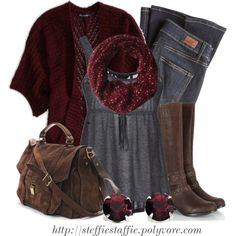 """""""Charcoal Gray & Deep Red"""" by steffiestaffie on Polyvore"""