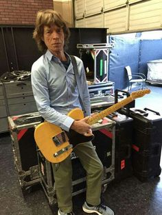 Mick Jagger and A Telcaster