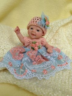 OOAK Prosculpt polymer clay newborn baby girl sculpt art doll not toy 5 DAYS!!