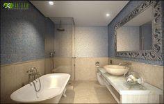 Beautiful Bathroom Interior Design - Home Decor 3d Interior Design, Interior Rendering, Commercial Interior Design, Bathroom Interior Design, Modern Interior, Small Bathroom Floor Plans, Bathroom Layout Plans, 3d Home, Plan Design