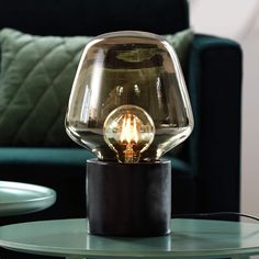 Table Lamps - Lampsy Glass Material, Glass Domes, Light Bulb, Coffee Maker, Perfume Bottles, Lighting, Table Lamps, Black, Products