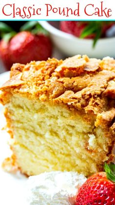 Classic Southern Pound Cake is perfectly buttery. Classic Southern Pound Cake is perfectly buttery. Easy Pound Cake, Pound Cake Recipes, Easy Cake Recipes, Baking Recipes, Best Moist Pound Cake Recipe Ever, Crunchy Top Pound Cake Recipe, True Pound Cake Recipe, Perfect Pound Cake Recipe, Kitchen