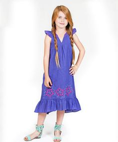 Love this Blue Adele Dress - Toddler & Girls by Jelly the Pug on #zulily! #zulilyfinds