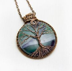 Black White Agate Tree Of Life Mens Necklace Protection Amulet Elven Tree Of Life Pendant Fairytale Women Gift Celtic Statement Necklace