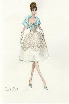 barbie fashion model collection robert best party dress sketch