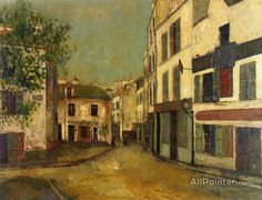 Maurice Utrillo Place Du Tertre In Montmartre oil painting reproductions for sale