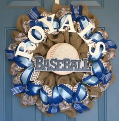 Personalized With Your Favorite Sports Team by wreathswithclasses