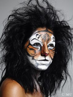 Tiger Makeup by Marnie Cossarini Show Makeup, Makeup Class, Fx Makeup, Tiger Makeup, Animal Makeup, Maquillage Halloween, Halloween Makeup, Ideas Maquillaje Carnaval, Animal Face Paintings