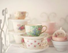 pastel china cups