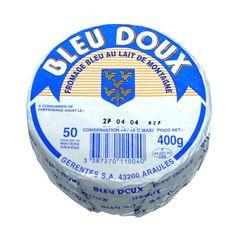 Auvernia queso producido en la meseta Mezenc, el azul suave es un queso de leche de vaca tienden a pecho (400 g). La leche de vaca, Origen FR Haute Loire tienda entre 0 ° C y 4 ° C