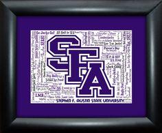 Stephen F. Austin State University SFA 16x20 by AODesignsOnline