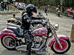 Pink Delux with skulls ...  www.hdlongbranch.com  Harley-Davidson of Long Branch