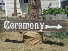 Barnwood Wedding Signs