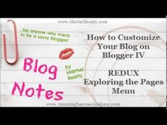 REDUX   How to Customize Your Blog on Blogger Part IV