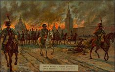 This is Napoleon leaving Moscow after an unsuccessful attempt to make the Russians surrender.