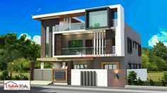 House Front Elevation Photos Modern India Front Elevation Designs House Plans Modern House Plans Contemporary House Plans Powerpoint Design Ideas Missing Mac Modern Exterior House Designs, Best Modern House Design, Contemporary House Plans, Modern Architecture House, Modern House Plans, Residential Architecture, 3 Storey House Design, Duplex House Design, House Front Design