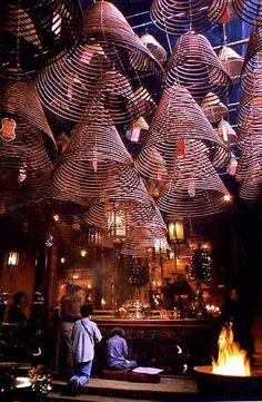 man mo temple in central hong kong