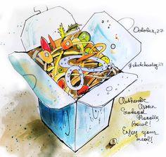 Noodles #art, #artbook, #sketch, #sketchbook, #artist, #artwork, #drawing, #draw, #illustration, #illustrator, #watercolor, #water, #noodles, #painting, #painter, #paint, #aquarella, #aquarell