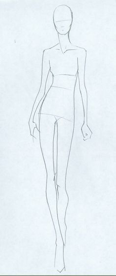 Model sketch for clothing design