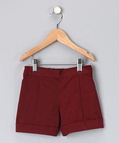 Burgundy Viola Shorts - Toddler & Girls