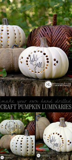 Drilled Craft Pumpkin Luminaries