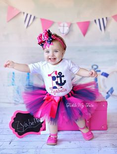 Anchor Themed Birthday Tutu Outfit-Nautical Themed by TickleMyTutu