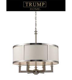 ELK Lighting Trump Home Central Park Seven Springs 6 Light Chandelier in Satin Nickel 20154/6