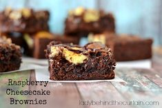 Raspberry Cheesecake Brownies - an idea for the brownie mix:  half water half oil (so half stick of butter, will save on the butter)