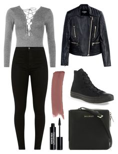 """Untitled #427"" by cristiana-s ❤ liked on Polyvore featuring WearAll, Balmain, Converse, Gucci and Edward Bess"