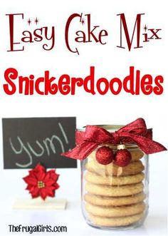 Snickerdoodle+Cake+Mix+Cookie+Recipe!